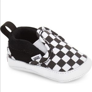 Infant Baby Vans Check pattern shoes Slip on